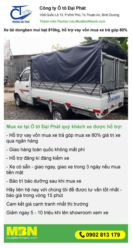 mua xe tải dongben giá rẻ trả góp
