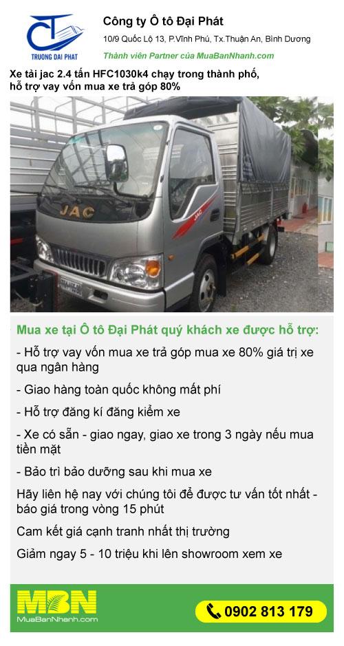 báo giá xe tải Jac 2.4 tấn