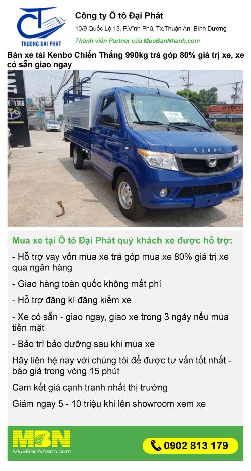 mua xe tải kenbo 990kg khuyến mãi
