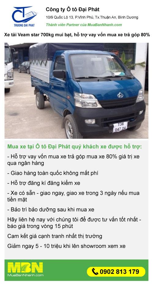 mua xe tải Veam Star giá rẻ trả góp