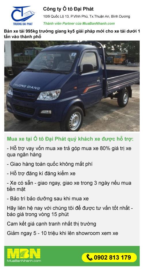 mua xe tải KY5 Trường Giang giá rẻ trả góp